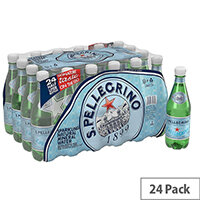 San Pellegrino Sparkling Natural Mineral Water Bottled 500ml Pack of 24