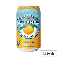 San Pellegrino Orange Sparkling Can 330ml (Pack 24)