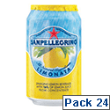 San Pellegrino Lemon Sparkling Can 330ml (Pack 24)