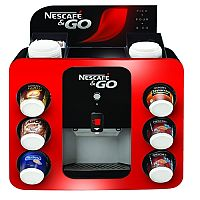 Nescafe & Go Drinks Machine for Hot Beverages, Machine heats in 5-10 minutes, Drink is dispensed within 10 seconds, Boiler Unit Capacity - 5 Litres, Hot Drink Unit Holds 48 Cups