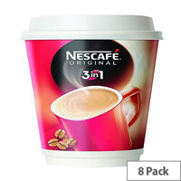 Nescafe & Go Original 3 in 1 White Coffee Cups Pack of 8 12215229