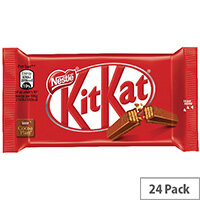 Nestle KitKat Four Finger Milk Chocolate Pack of 24 12351222