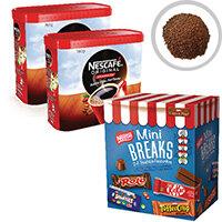 Nescafe Original 2x750g FOC Mini Breaks Mixed Selection Pack of 24 NL819841