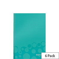Leitz WOW Hardcover Notebook A5 Ice Blue Pack of 6