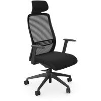 NV Posture Office Chair with Contoured Mesh Back and Adjustable Lumbar Support & Headrest Black