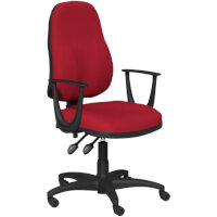 OA Series High Back High Back Operator Office Chair Bespoke Evert Fabric with Fixed Arms