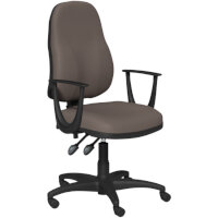 OA Series High Back High Back Operator Office Chair Bespoke Lotus PU with Fixed Arms