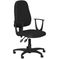 OA Series High Back High Back Operator Office Chair Black Vinyl with Fixed Arms