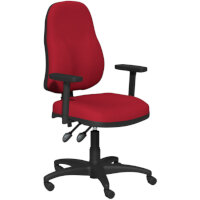 OA Series High Back High Back Operator Office Chair Bespoke Evert Fabric with Height Adjustable Arms