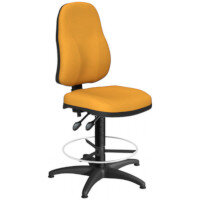 OA Series High Back Draughtsman Chair Bespoke Camira Xtreme Fabric 550-810mm High Base with Chrome Footring & Glides