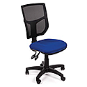 Mesh Office Chair With Adjustable Back Blue Profiled Seat OA Series