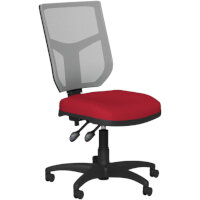 OA Series Mesh Back Office Chair with Adjustable Grey Mesh Back & Bespoke Evert Fabric Seat