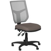 OA Series Mesh Back Office Chair with Adjustable Grey Mesh Back & Bespoke Lotus PU Seat