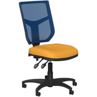 OA Series Mesh Back Office Chair with Adjustable Blue Mesh Back Bespoke Camira Xtreme Fabric Seat