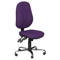 O.B Series Office Chair Fabric Seat Chrome Base Purple