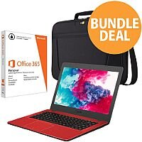 "Asus Bundle Red Notebook 14"" Intel Dual-Core Celeron 1.60Ghz, RAM 4GB, 1TB HDD + Bag + MS Office 365 + Panda Antivirus"