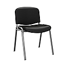 O.I Series Black Vinyl Chrome Legs Stacking Chair