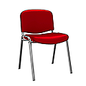 O.I Series Red Vinyl Chrome Legs Stacking Chair