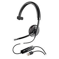 Plantronics Blackwire C510 Monaural USB Wired Headset Black