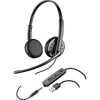 Plantronics Blackwire C325 Stereo USB Headset Black