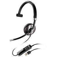 Plantronics Blackwire C710 Over Head Single Headphone and Microphone