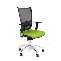 Ergonomic Mesh Task Operator Office Chair With Lumbar Support & Adjustable Arms Black/Green OZ Series