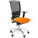 Ergonomic Mesh Task Chair With Lumbar Support & Adjustable Arms Black/Orange OZ Series