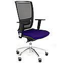Ergonomic Mesh Task Chair With Lumbar Support & Adjustable Arms Black/Purple OZ Series