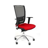 Ergonomic Mesh Task Operator Office Chair With Lumbar Support & Adjustable Arms Black/Red OZ Series