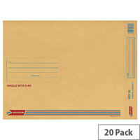 GoSecure Bubble Lined Envelope Size 10 350x470mm Gold Pack of 20 PB02157
