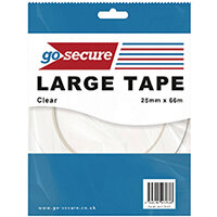 Go Secure Large Tape 25mmx66m Pack of 24 PB02299