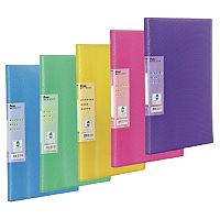 Pentel Recycology Display Book Vivid 30-Pocket Assorted Pack of 5 with Free Pad and Pens DCF343/PAD