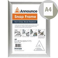 Photo Album Co A4 Silver Snap Frame SNAPA4S