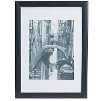 Picture Frame A4 Black Wood And A Clear Glass Perspex for Photos, Pictures and Certificates Photo Album Company