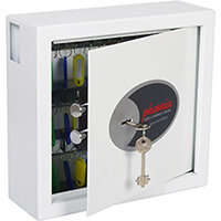 Phoenix Cygnus Key Deposit Safe KS0031K With 30 Key Hooks Key Lock & Deposit Slot White