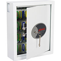 Phoenix Cygnus Key Deposit Safe KS0032K With 48 Key Hooks Key Lock & Deposit Slot White