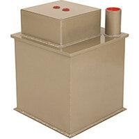 Phoenix Tarvos UF0613KD 12'' 25L 10K Underfloor Security Safe with Key Lock & Deposit Slot Gold