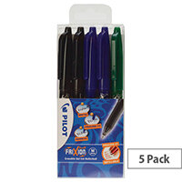 Pilot FriXion Ball Medium Line Wallet Assorted Pack of 5 224300530