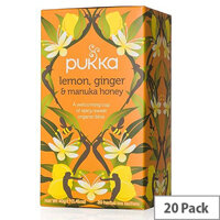 Pukka Lemon Ginger and Manuka Organic Tea Bags (Pack of 20) P5049