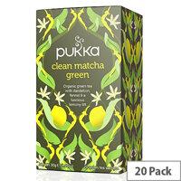 Pukka Clean Matcha Green Organic Tea Bags (Pack of 20) P506 P5053SE