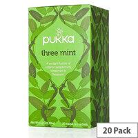 Pukka Three Mint Tea Bags (Pack of 20) P5025