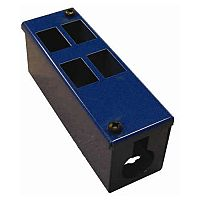 Cat 6 friendly 4 Way Blue Cable Tidy POD Box Depth: 70mm Cable Entry: 32mm