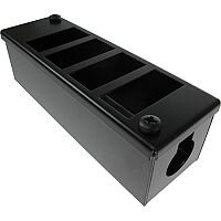 Cat 6 friendly 4 Way Cable Tidy POD Box Depth: 55mm Cable Entry: 25mm