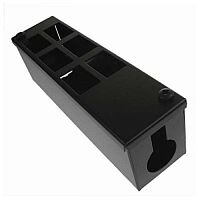Cat 6 friendly 6 Way Cable Tidy POD Box Depth: 70mm Cable Entry: 32mm