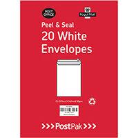 Envelopes C5 Peel & Seal White 90Gsm Pack of 20 POF27423