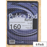 Pukka Pad A4 Ruled & Margin Refill Pad Pack of 6