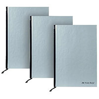 Pukka Pad Silver Ruled Casebound Notebook 192 Pages A4 (Pack of 5) 3 for 2 RULA4