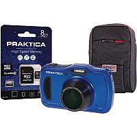 Praktica Luxmedia WP420 Waterproof 20mp Camera plus 8gb card and case
