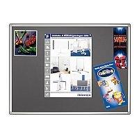 Franken Grey Felt Pin Board PRO Aluminium Frame 1200x900mm PT830312