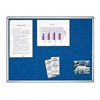 Double Sided Felt Notice Board 1800 x 1200mm Franken Pro Partition System Blue